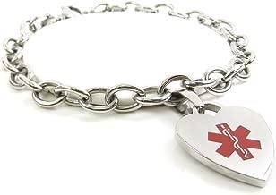 My Identity Doctor - Custom Engraved Womens Medical Alert Bracelet, O-Link