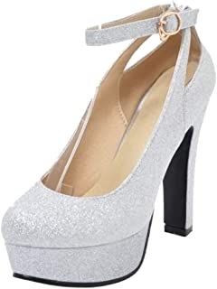 dd5b4db1 RAZAMAZA Zapatos de Tacon Alto para Mujer