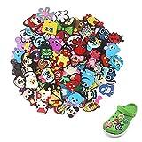 Adornos para Zapatos, 50 Pcs Different PVC Shoe Charms, Charm Cartoon Lovely Shoes Decoración Pulsera Charms Favores De Fiesta,los Mejores Regalos para Adultos, Niños y Niñas