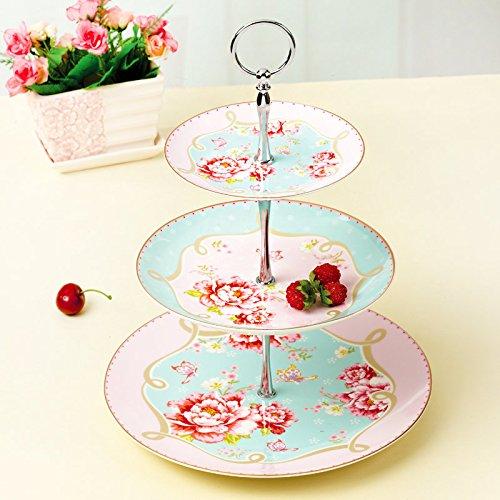 Bone Engelse afternoon tea, thee/koffie continentaal kopje koffie verpakt thee koffie kit, 14Part,De drie-tier cake pan (enkele prijs
