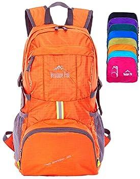 Venture Pal Lightweight Packable Durable Travel Hiking Backpack Daypack  Orange
