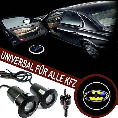 VAWAR Luce per portiera auto, LED benvenuto proiettore, luce fantasma ombra logo, luce di benvenuto Ghost Shadow, DC 12V, universale per tutte le auto