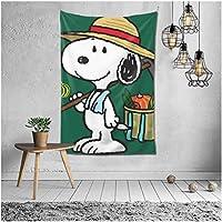 Snoopy タペストリー スヌーピー 装飾壁掛け 装飾布 北欧 多機能 間仕切り インテリア 寝室カーテン 部屋飾り 可愛い 壁掛け布 152CM*203CM