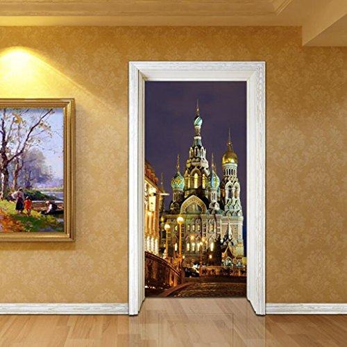 Lozse 3D Tür Aufkleber St. Petersburg Wandaufkleber Aufkleber