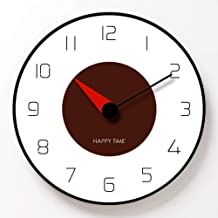 PENFU Wall Clock Round Wall Clock Simple Decorative Creative Modern Wood Clock Wall Clock for Living Room Kitchen Office B...