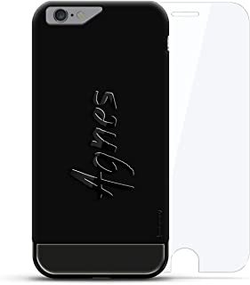 Luxendary Designer, 3D Printed, Fashion, High End, Premium, 24K Series, 360 Degree Protecting Cell Phone Case for iPhone 6/6S - Velvet Black & Titanium Black, Agnes, Hand-Written First Name