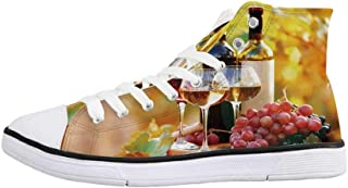 Coffee Cupcakes Wine Unisex Classic Canvas Lace Up Shoes Sneakers For Men /& Women