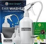 Set para Limpiar Oídos, Frasco 500 ml + Jeringa Grande y Conos para los Oídos + Gotas de Aceite de Oliva 100%, Kit de Limpieza de Oídos de Medi Grade, Elimina Tapones de Oídos en Adultos y Niños…
