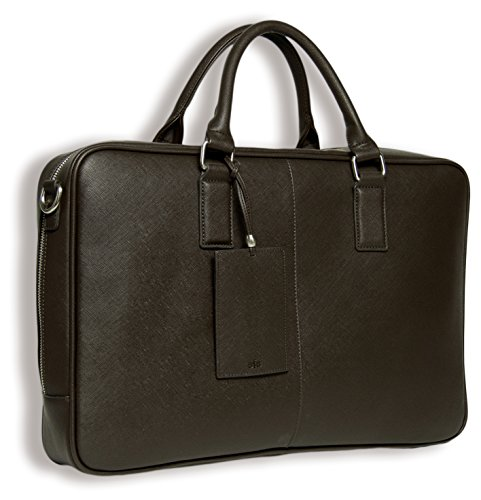 BfB Laptop Messenger Bag For Men – Designer Business Computer Bag Or Attorney Briefcase – Ideal For Work And Travel – CHOCOLATE BROWN