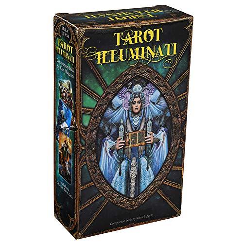 78pcs Englisch Tarot-Karte Illuminati Kit Tarot-Karten Deck Brettspiele Game Card für Family Party Entertainment Spielkarte