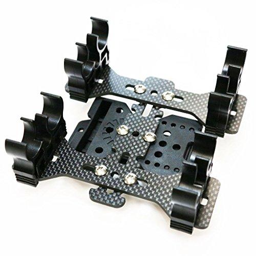 Airsoft Softair Ausrüstung APS 2x Quad-Load Schrot Caddy-System mit Gürtelschlaufe Schwarz