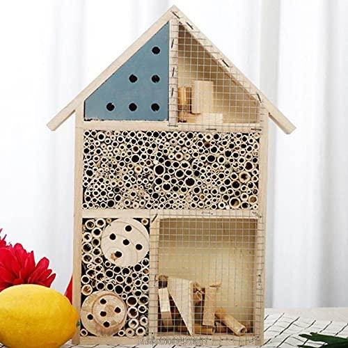 Natural De Madera Insecto House Hotel Bee House Hábito Hábito para Ladybugs Ladybirds Lacewings Casa De Mariposa