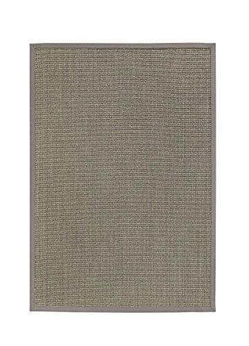 BODENMEISTER Sisal-Teppich modern hochwertige Bordüre Flachgewebe, verschiedene Farben und Größen, Variante: hell-grau, 80x250