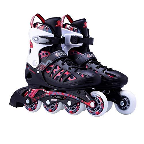 Taoke Inline-Skates, bequem und atmungsaktiv Inline-Skating-Schuhe, Erwachsene Verstellbare Schlittschuhe, Geeignet for Anfänger (Farbe: # 1, Größe: Einstellbar (37-40)) dongdong