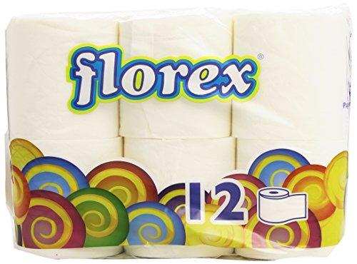 Florex Papel higiénico, 100% Pura Celulosa - 12 Rollos