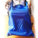 Leichte Rollstuhldecke, Wasserdichtes Winddichtes Außenmaterial Und Warmes Samtfutter, Mit Fußtaschen (Blau),Big -