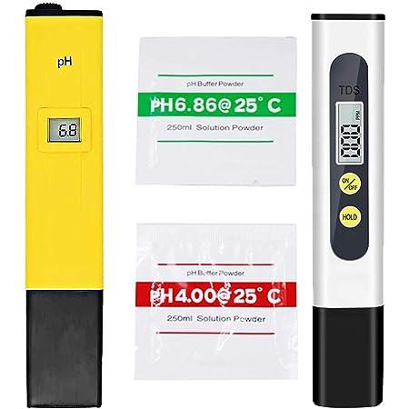 """AMPEREUS ±0.1Ph 0.6"""" LCD Mini Digital Pen Style pH-Meter and TDS Meter Combo Set"""