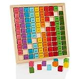 Milly & Ted Matemáticas de Madera Multiplicación 10 x 10 Veces Tablero de Mesa - Juguete Educativo para niños Stem