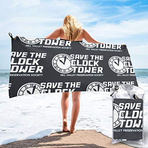 Buildterial Save The Clock Tower Outdoorsquick Dry Towel, Microfiber Super Absorbent Lightweight Towel for Swimmers, Bath Towels for Adults, Pool, Water Sports