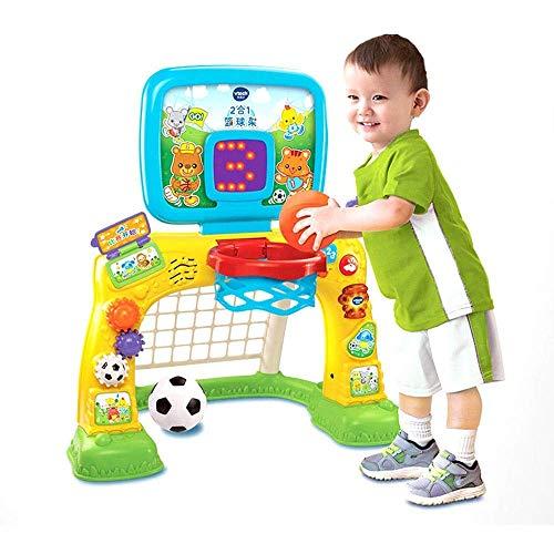 Niños portátiles de Baloncesto aro 2-en-1 del aro de Baloncesto Puerta del balompié con el Marcador bebé Cubierta Entre Padres e Hijos Juguetes interactivos ZHNGHENG