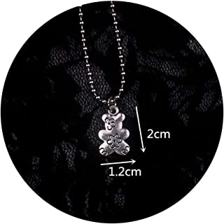Stainless Steel Beads Chains Cute Rabbit Alien Leaf Dollars Angel Necklaces Men Punk Necklace Bear I040 50Cm
