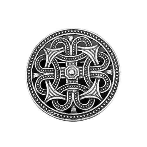 Bonarty Keltische Wikinger Broschen Abzeichen Wikinger Anstecker Ansteckernadel aus Zinklegierung, Verzierung für Kleidung Mantel Schals Pullover - 1