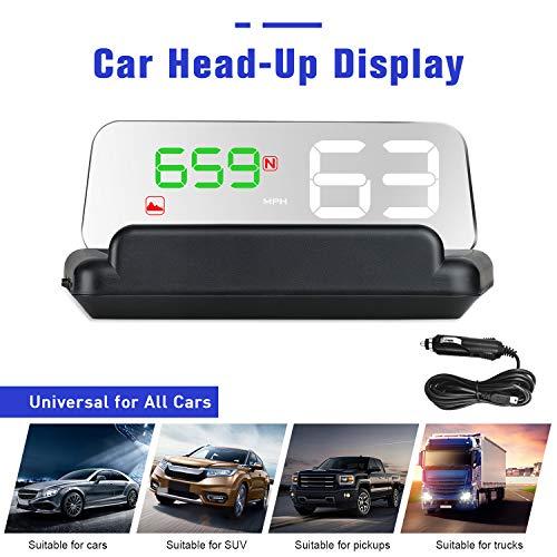 """4,3""""LCD Tête à Haute Visualisation HUD GPS Numérique Capteur de Lumière Numérique HUD Display Compétitive Direction de Conduite Kilométrage Altitude Temps de Parcours Alarme de survitesse Compass"""