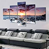 5 Piezas Pinturas de Lienzo Impresas Sunny Sea Reef Wall Art Canvas Modular...