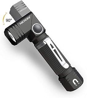 NICRON Led Flashlight 90 Degree 600LM Waterproof Magnet LED Torch