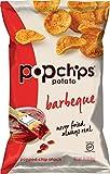 Popchips Potato Chips, BBQ Potato Chips, 6 Count (3.5 oz Bags), Gluten Free Potato Chips, Low Fat, No Artificial Flavoring, Kosher