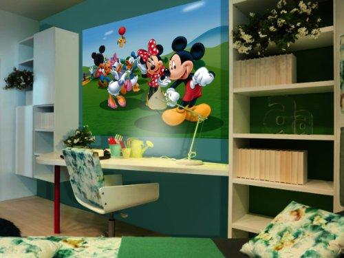 AG Design FTDm 0706 Disney Mickey Mouse Minnie, papier fotobehang kinderkamer- 160x115 cm - 1 stuk, papier, multicolor, 0,1 x 160 x 115 cm