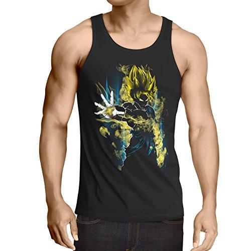 CottonCloud Power of Goku Débardeur Homme Tank Top God Z Vegeta Roshi Ball, Taille:M, Couleur:Noir