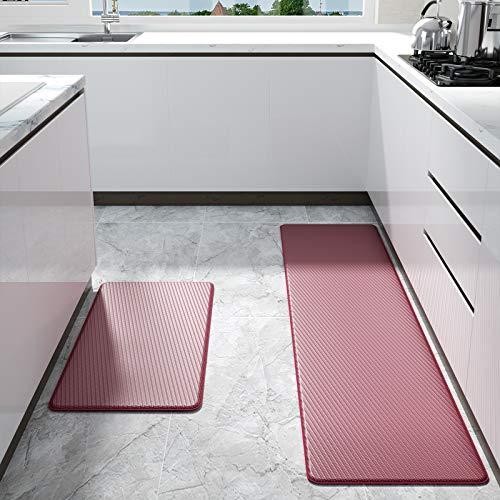 Color&Geometry Tapis de Cuisine, 2 Pièces Tapis de Couloir, Paillasson Intérieur Tapis, Tapis de Passage, PVC Imperméable, Antidérapant, Résistant à l