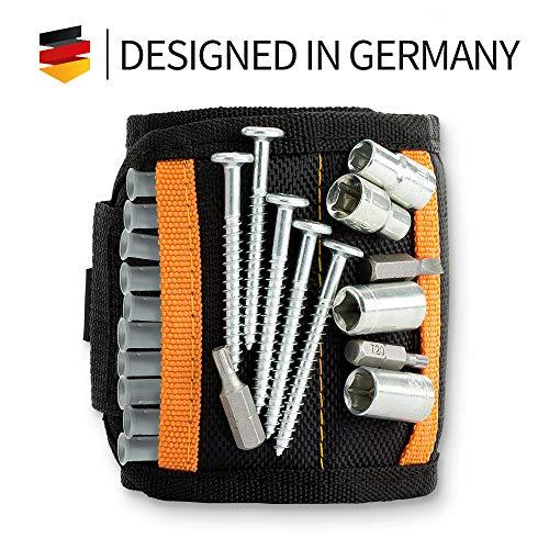 Magnetisches Armband - extrem stark: Nagel Schrauben schnell griffbereit | Magnetarmband Handwerker Geschenke für Männer | Heimwerker Geschenke | Magnetic Wristband