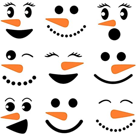 Konsait 190+pcs Christmas Refrigerator Sticker Christmas Wall Cup Window Clings Decal Sticker Decor for Christmas Party Decorations Supplies Favor Cute Snowman Santa Claus Reindeer Emoji Self-Adhesive Stickers