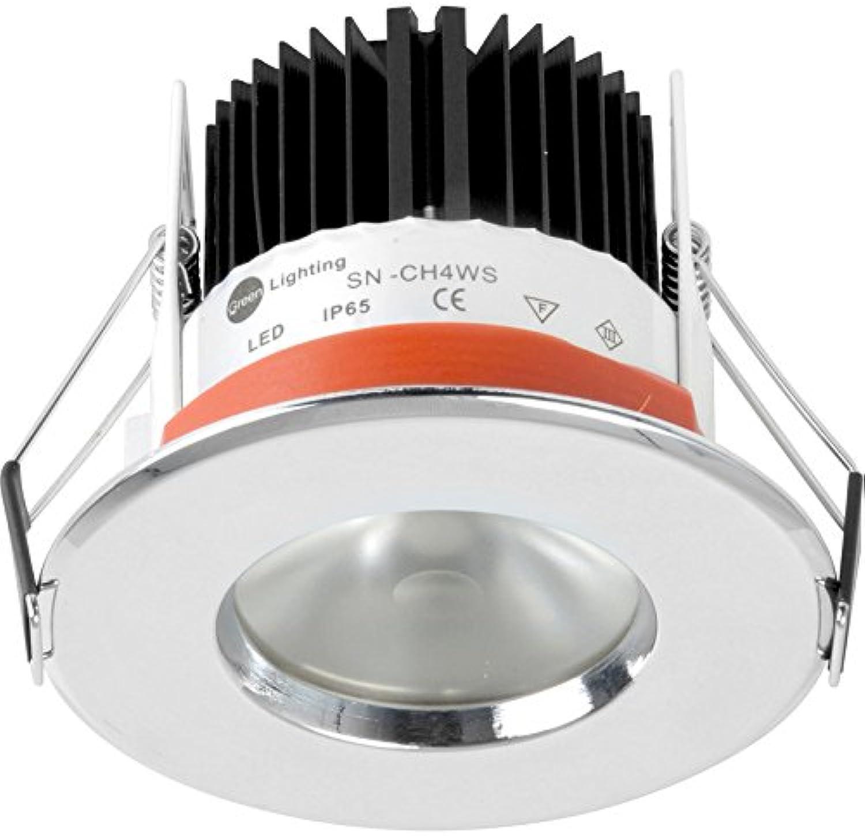 Dluxled D-Lux LED IP654.65W Fire spezifische Einbauleuchte Chrom 477lm