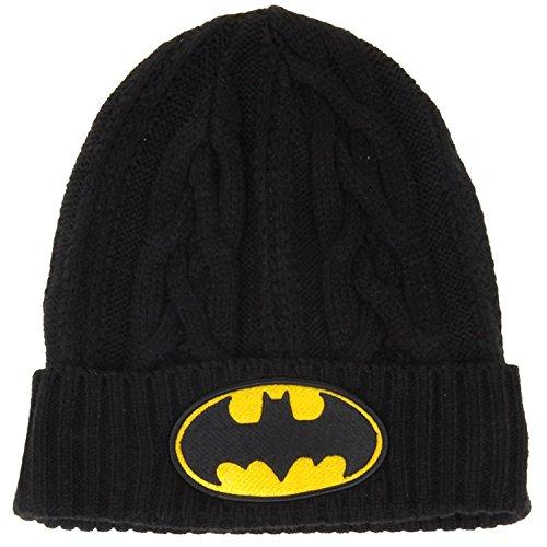 New Era Hero Cuff Black Cable Knit Beanie (Batman)