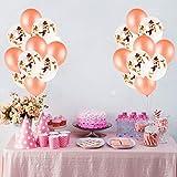 55 Stück Just Married Deko Rosegold Luftballons Set:Helium Buchstaben Folienballons Just Married Banner Girlande,Rose Gold Konfetti Latex Ballons für Bridal Shower Verlobungs Hochzeit Party Dekoration - 5