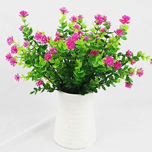1 Bündel Künstlicher Plastik Blumenstrauß für Haupt Dekorations Pflanzenwand Garten Deko - 2