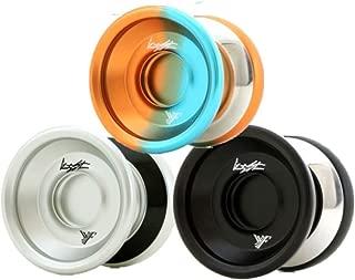 YoYoFactory Wide Angle Shutter Yo-Yo - Bi-Metal Design Look and Style - Gentry Stein (Black)