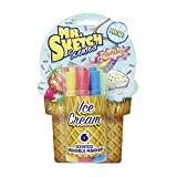 Mr. Sketch Washable Scented Watercolor Markers, Chisel-Tip, Set of 6, Ice Cream Colors (1924258)
