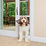 PetSafe Freedom Aluminum Patio Panel Sliding Glass Dog and Cat Door, Adjustable 76 13/16 in to 80 11/16 in - X-Large White Pet Door