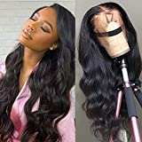 Star Show Unprocessed Brazilian Body Wave Human Hair Wigs 13X4 Lace Front Wigs with Baby Hair 150% Density Natural Hairline wigs for Black Women (20 inch)