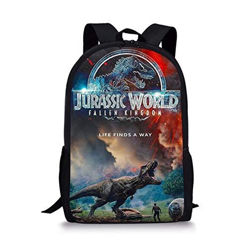 Jurassic World Dinosaure Enfants Sac à Dos Dessin animé Enfants école Sacs à Dos Adolescent Sac à Dos étudiant Sacs à Dos 44 * 28 * 13 cm L