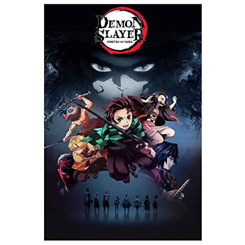 Demon Slayer Poster Wall Art Frameable Anime Posters for Walls for Boys Room Decor Japanese Anime Fans' Gifts, No Frame (16'x24') (007)