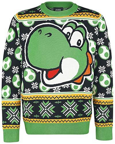 Unbekannt Super Mario Yoshi Weihnachtspullover Multicolour S