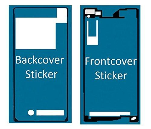 MMOBIEL Set de 2 Etiquetas/Folios Adhesivos Delantero y Trasero Compatible con Sony Xperia Z2 Resistentes al Agua Impermeables para la Pantalla Delantera y Tapa Trasera de la batería