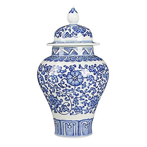 ZYG222 Antiek handgeschilderd blauw en wit keramiek universele tank vaas lotus hoed deksel gember pot decoratie creatief geschenk