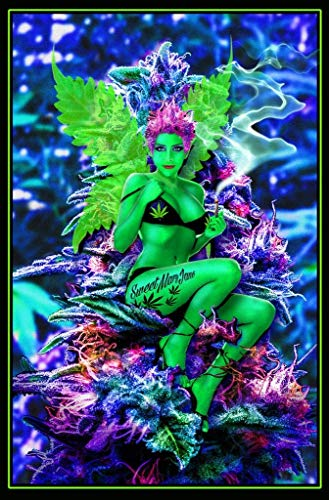 Studio B Weed Fairy Non-Flocked Blacklight Poster 24x36 inches