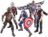 Xuping Marvel Juguetes Set -Capitán América/Hawkeye/Los Soldado de Invierno/Ant-Man/Falcon Juguetes Figuras de Acción - Colección de cumpleaños Regalo de articulación móvil Marvel Infinity War